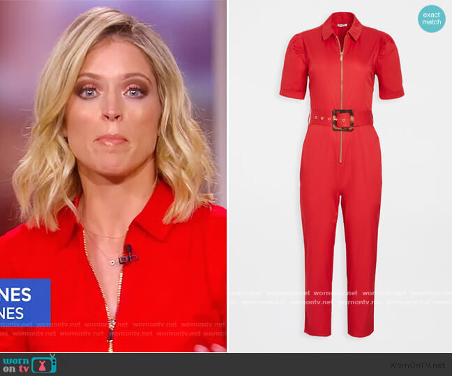 Short Sleeve Belted Jumpsuit by We Wore What worn by Sara Haines  on The View