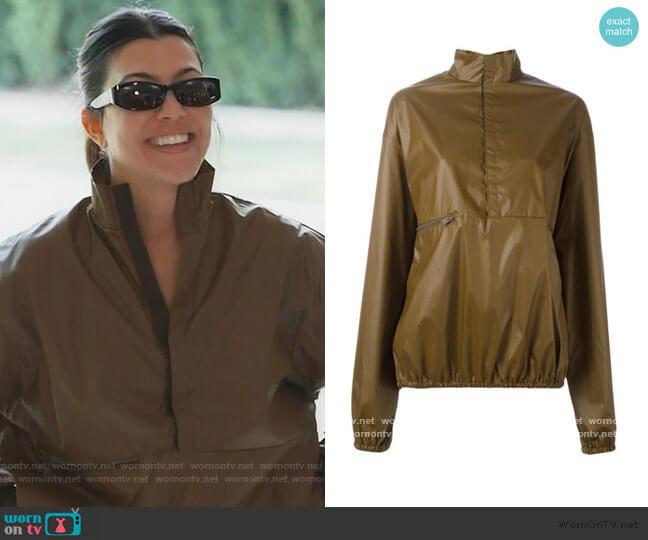 Season 3 windbreaker jacket by Yeezy worn by Kourtney Kardashian  on Keeping Up with the Kardashians