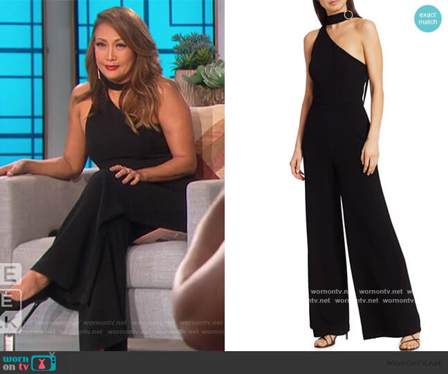 Tie neck Asymmetric Jumpsuit by Zimmermann worn by Carrie Inaba  on The Talk
