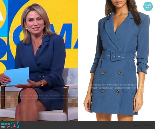 Kayle Jacket Dress by Adelyn Rae worn by Amy Robach  on Good Morning America