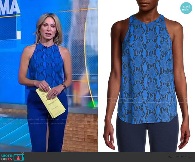 Anise Python-Print Blouse by A.L.C. worn by Amy Robach  on Good Morning America