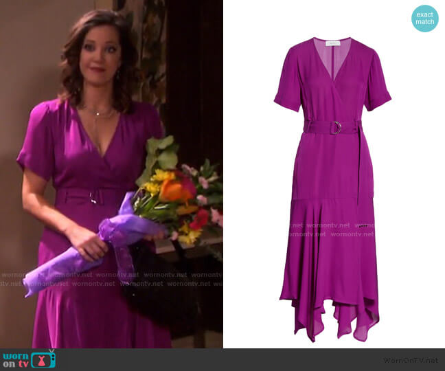 Claire Dress by A.L.C. worn by Heather Lindell on Days of our Lives