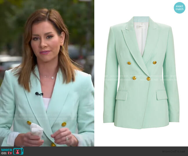 Sedgwick Double-Breasted Blazer by A.L.C. worn by Rebecca Jarvis  on Good Morning America