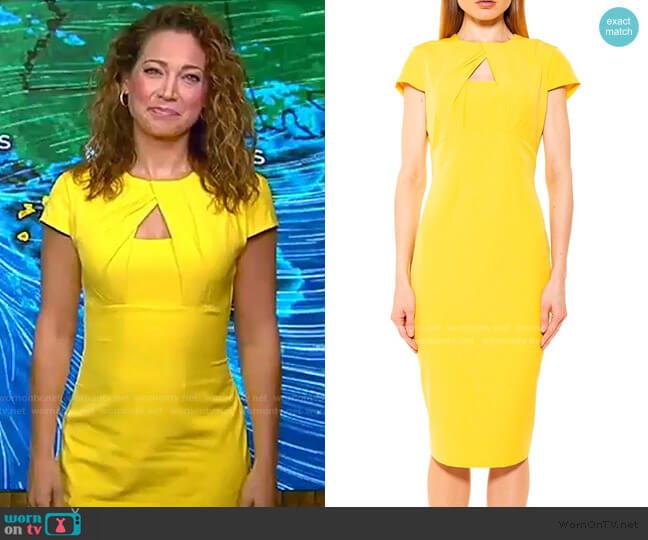 Bella Chest Cutout Midi Dress by Alexia Admor worn by Ginger Zee  on Good Morning America