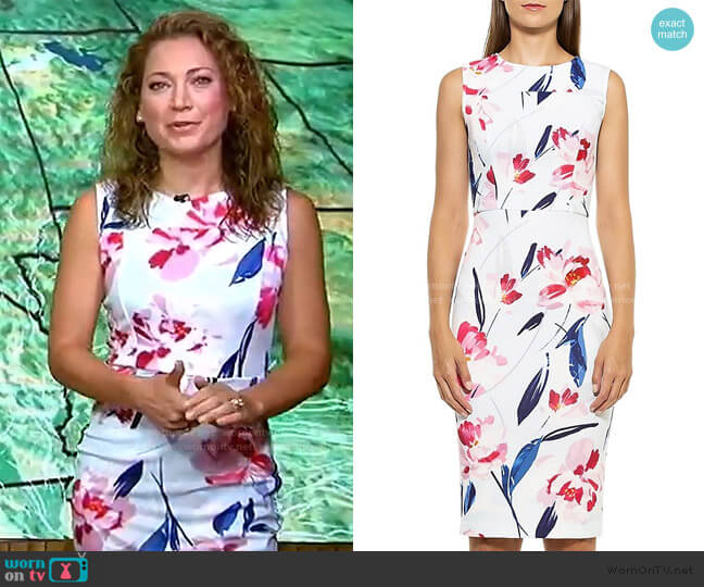 Danica Floral Sheath Dress by Alexia Admor worn by Ginger Zee  on Good Morning America