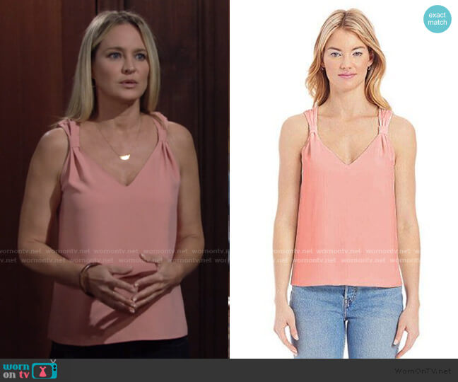 Astra Tank by Amanda Uprichard worn by Sharon Collins (Sharon Case) on The Young & the Restless