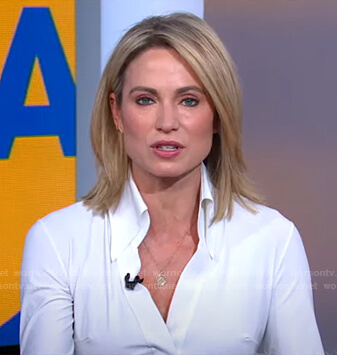 Amy's white blouse on Good Morning America