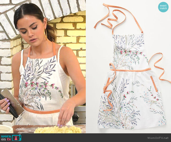 Anthropologie Printemps Apron worn by Selena Gomez  on Selena + Chef