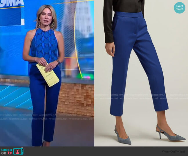 Tailored Trouser by Argent worn by Amy Robach  on Good Morning America
