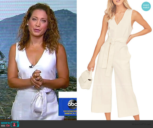 Daydream Sleeveless Jumpsuit by ASTR the Label worn by Ginger Zee  on Good Morning America