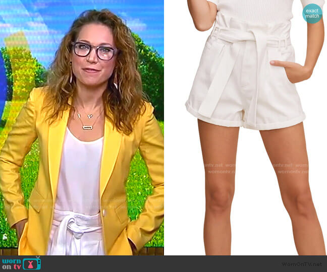 Paperbag Waist Shorts by Astr the Label worn by Ginger Zee  on Good Morning America