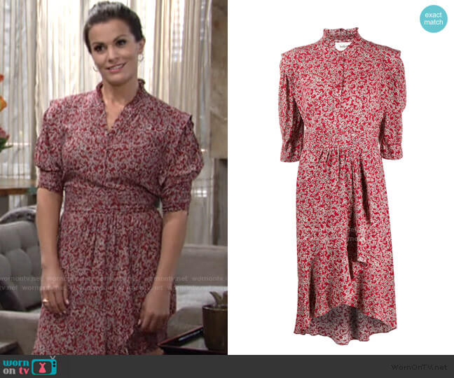 Chelsea Abstract Floral-Print Dress by Ba&Sh worn by Chelsea Lawson (Melissa Claire Egan) on The Young & the Restless
