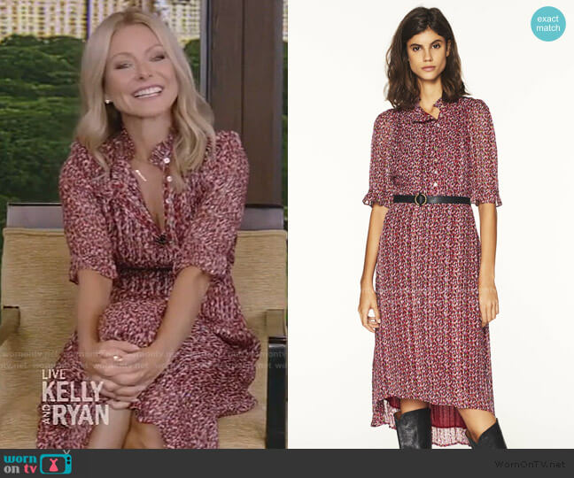 Daleares Dress by Ba&Sh worn by Kelly Ripa  on Live with Kelly & Ryan
