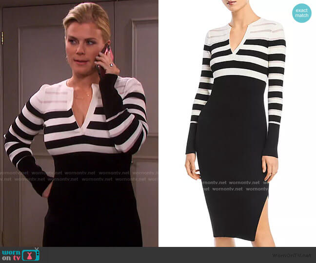 Candice Rib-Knit Midi Dress by Bailey 44 worn by Sami Brady (Alison Sweeney) on Days of our Lives