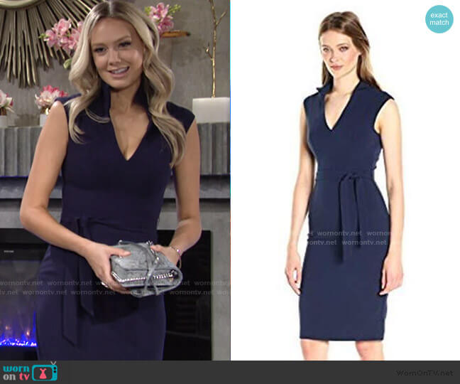 Brittan Dress by Black Halo worn by Abby Newman (Melissa Ordway) on The Young & the Restless