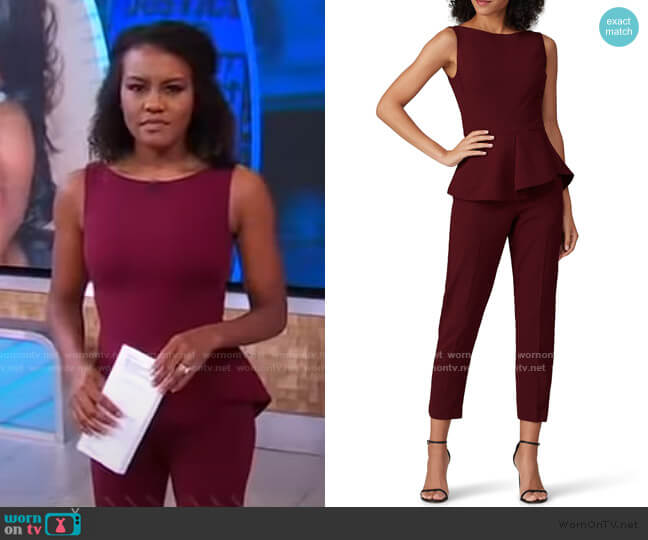 Kasia Jumpsuit by Black Halo worn by Janai Norman  on Good Morning America