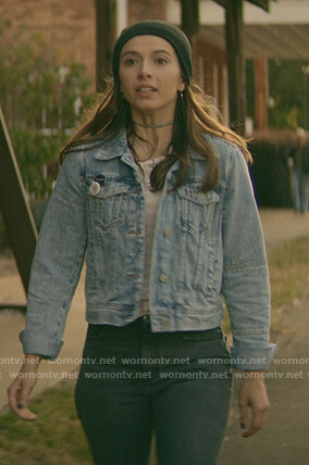Blair's denim jacket on Teenage Bounty Hunters