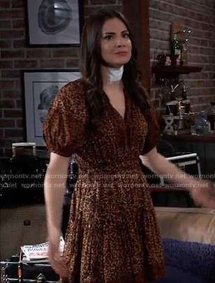 Brook lynn's leopard print mini dress on General Hospital