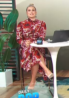 Carissa's red floral maxi dress on E! News Daily Pop
