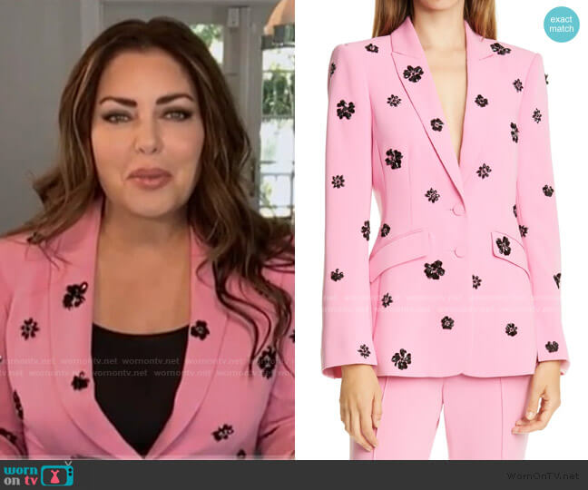 Cheyenne Crystal Flower Embellished Blazer by Cinq a Sept worn by Bobbie Thomas on Today