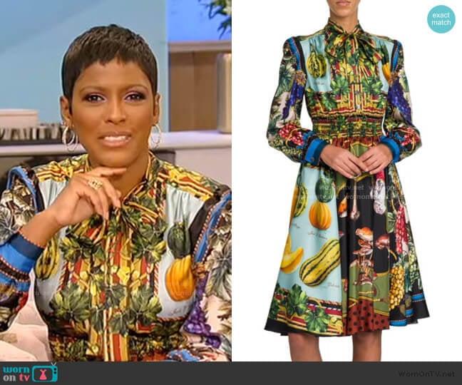 Multi-Fruit Printed Silk Shirtdress by Dolce & Gabbana worn by Tamron Hall  on Tamron Hall Show