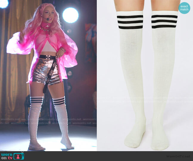 Got Game Thigh High Socks by Dolls Kill worn by Carrie (Savannah Lee May) on Julie & the Phantoms