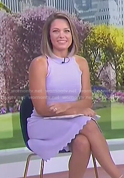 Dylan's lilac scalloped dress on Today