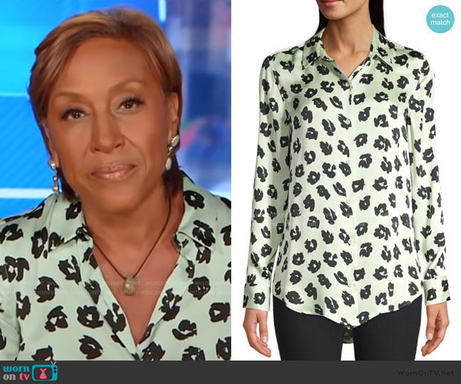 Essential Floral Blouse by Equipment worn by Robin Roberts  on Good Morning America