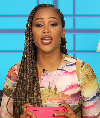 Eve's desert print dress on The Talk