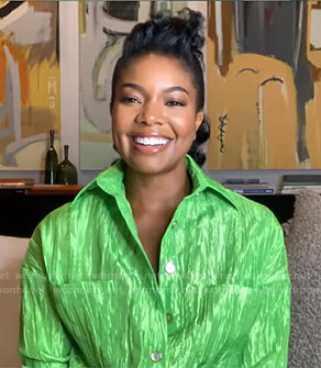 Gabrielle Union's lime green jumpsuit on Good Morning America