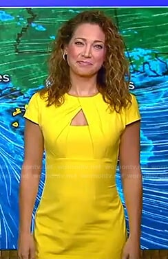 Ginger's yellow keyhole dress on Good Morning America