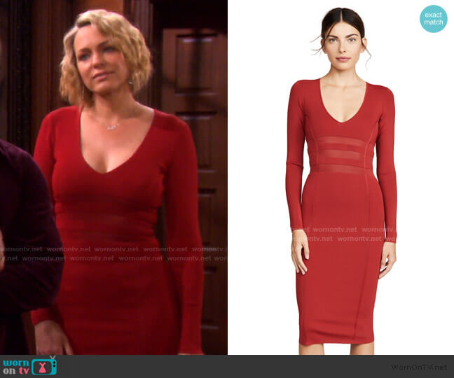 The Low Down Knit Dress by Good American worn by Nicole Walker (Arianne Zucker) on Days of our Lives
