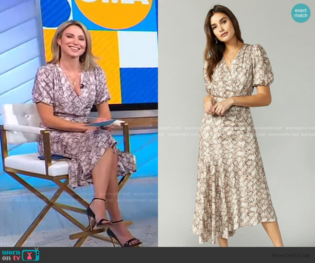 Isabella Snake Print Maxi Dress by Greylin worn by Amy Robach  on Good Morning America