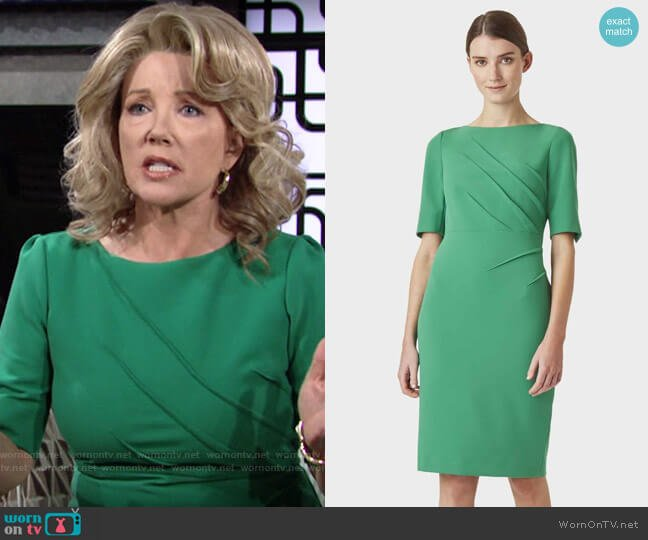 Hobbs Geraldine Dress worn by Nikki Reed Newman (Melody Thomas-Scott) on The Young & the Restless