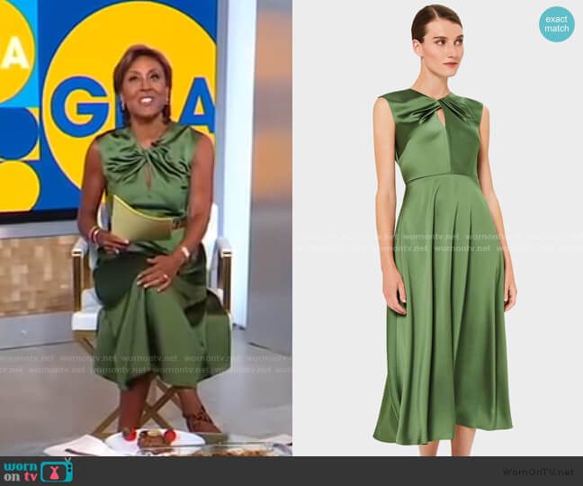 Cassandra Dress by Hobbs London worn by Robin Roberts  on Good Morning America
