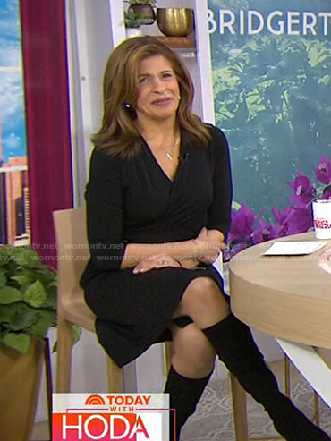 Hoda's black wrap dress on Today