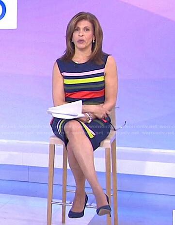 Hoda's multicolor striped dress on Today