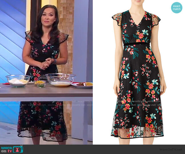 Floral Lace Dress by Hunter Bell worn by Eva Pilgrim  on Good Morning America