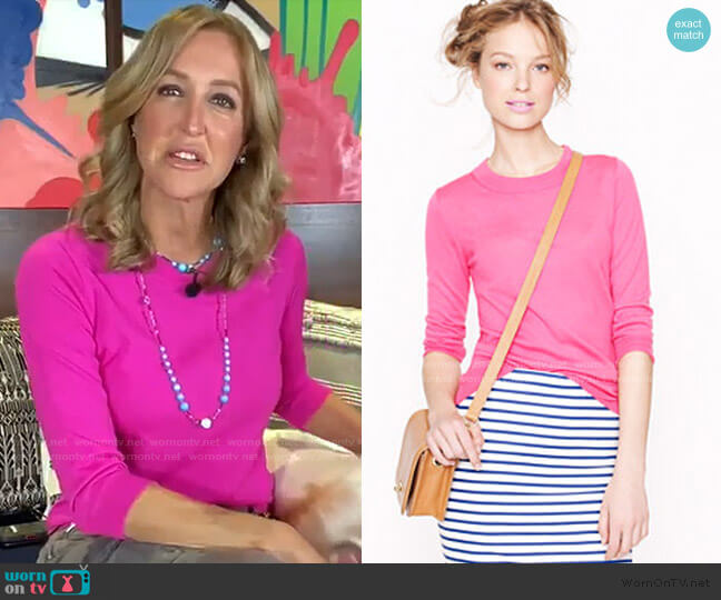 Tippi Sweater by J. Crew worn by Lara Spencer  on Good Morning America