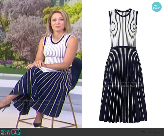 Pleated Knit Dress by Jason Wu worn by Dylan Dreyer  on Today