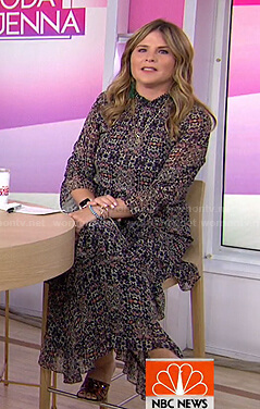 Jenna's black printed maxi dress on Today