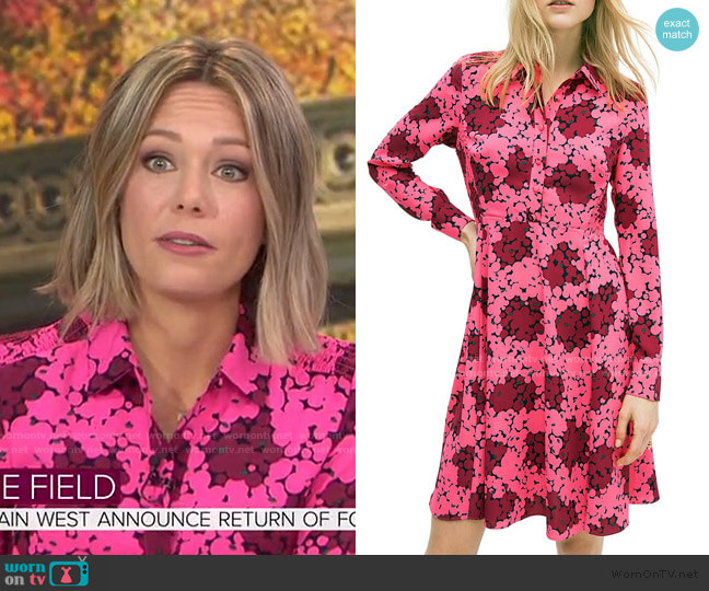 Floral Flare Shirtdress by Kate Spade worn by Dylan Dreyer  on Today