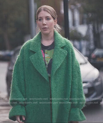 Katherine's green wool coat on The Duchess