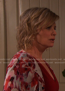 Kayla's Floral Cardigan on Days of our Lives