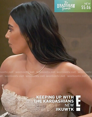 Kim's snake skin top on Keeping Up with the Kardashians