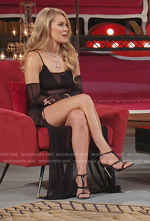 Leah's black sheer dress on The Real Housewives of New York City