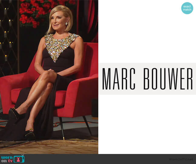 Custom Dress by Marc Bouwer worn by Sonja Morgan  on The Real Housewives of New York City