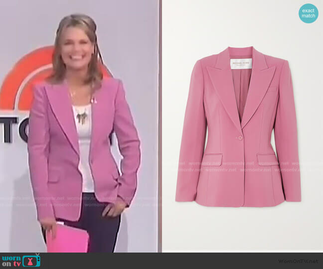 Wool-blend crepe blazer by Michael Kors worn by Savannah Guthrie  on Today