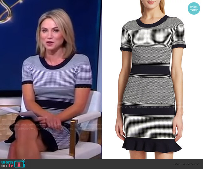 Striped Wave Dress by Milly worn by Amy Robach  on Good Morning America