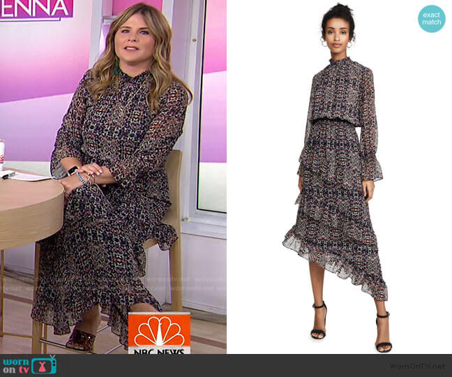Rania Dress by Misa Los Angeles worn by Jenna Bush Hager  on Today